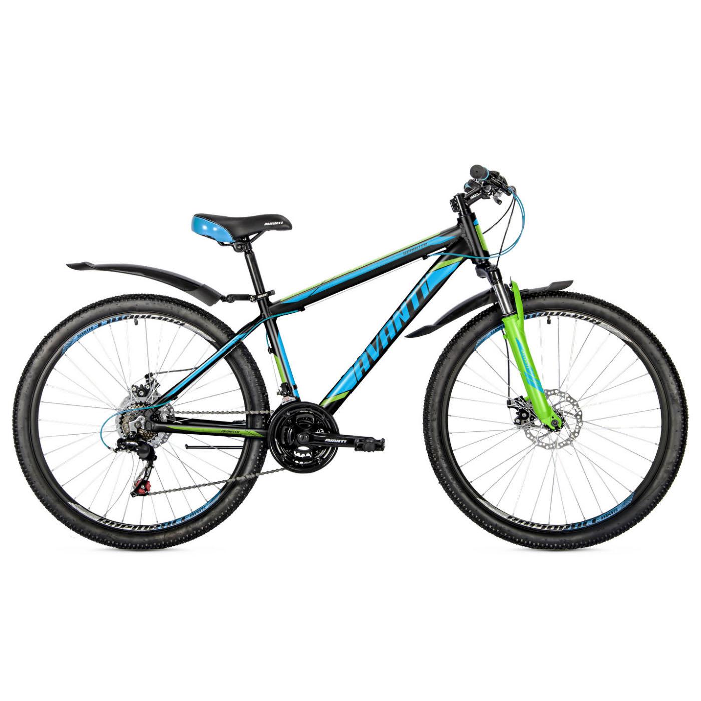 Фото Подростковый Велосипед 26 Avanti Sprinter 2018 черно-зелено-синий