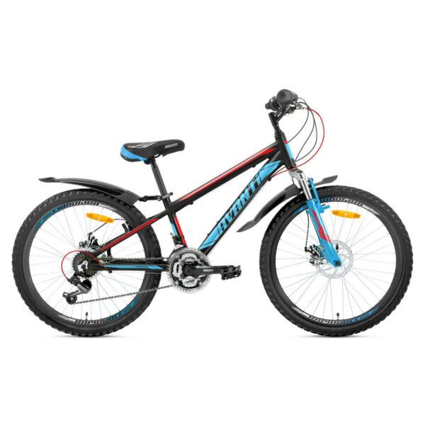 Фото Подростковый Велосипед 24 Avanti Sprinter 2018  черно-сине-красный