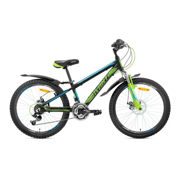 Фото Подростковый Велосипед 24 Avanti Sprinter 2018 черно-зелено-синий