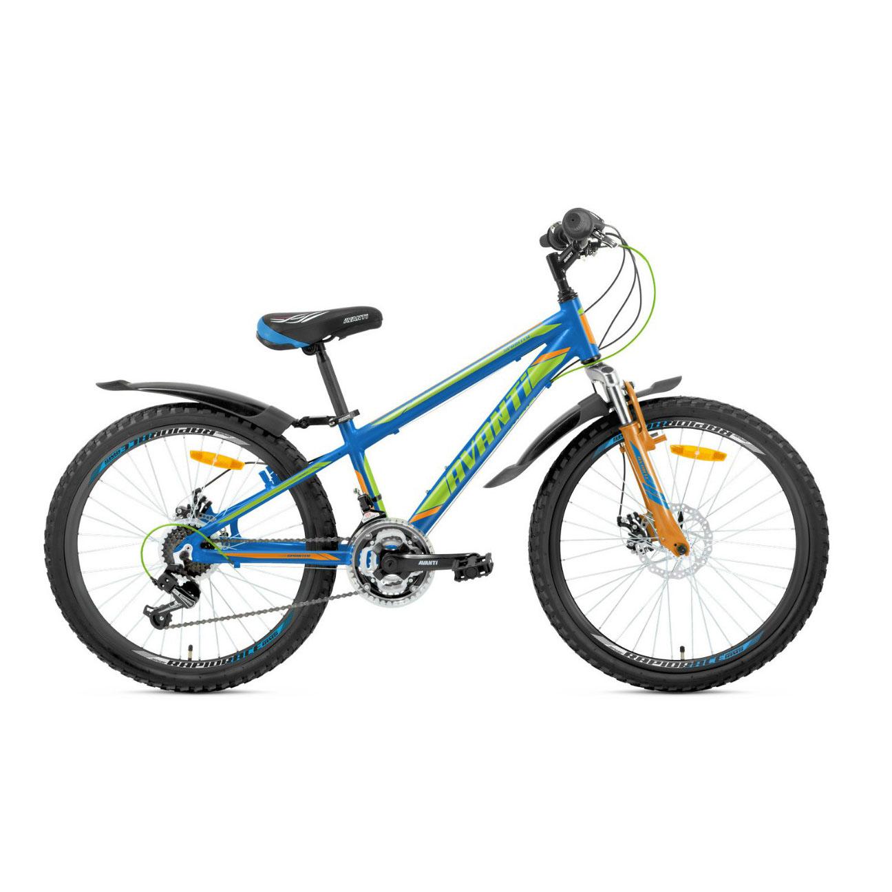 Фото Подростковый Велосипед 24 Avanti Sprinter 2018 сине-зеленый