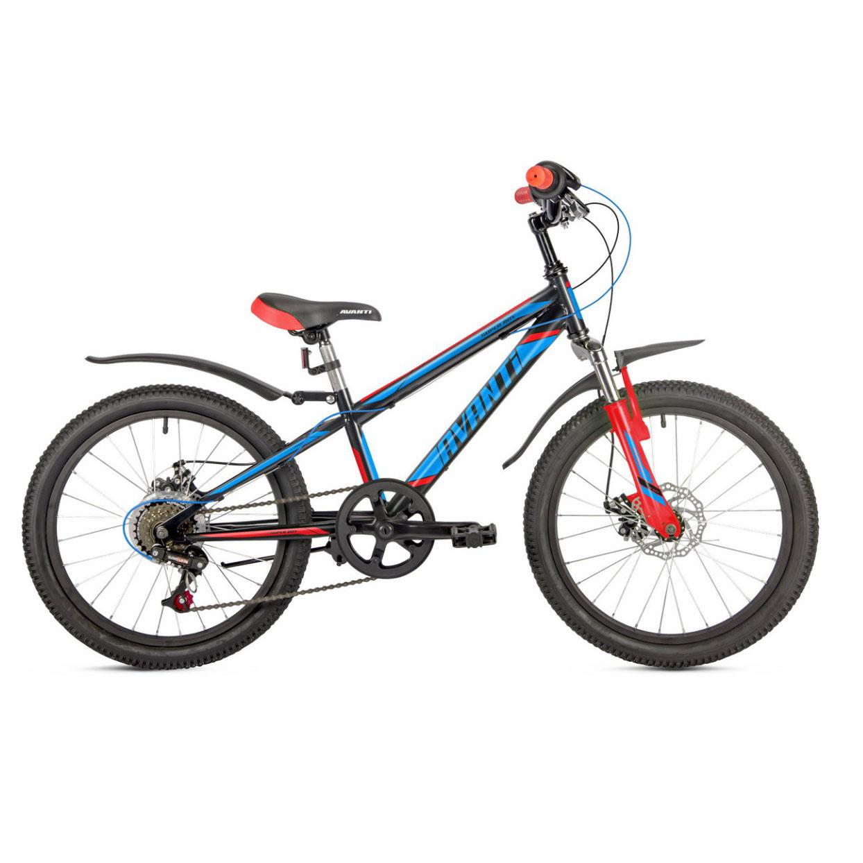 Фото Детский Велосипед 20 Avanti Super Boy 2018  черно-сине-красный