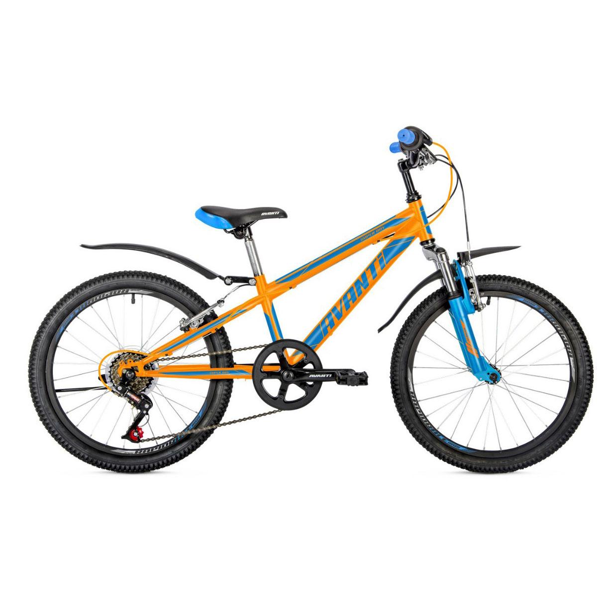 Фото Детский Велосипед 20 Avanti Super Boy 2018 оранжево-синий