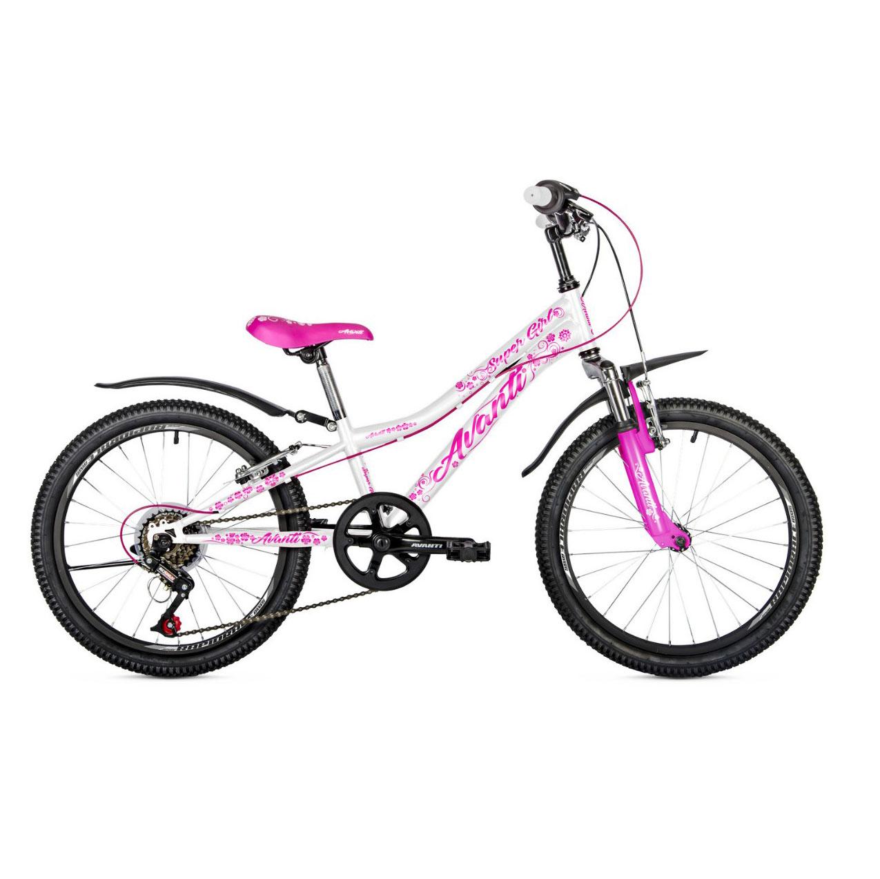 Фото Детский Велосипед 20 Avanti Super Girl 2018 бело-розовый