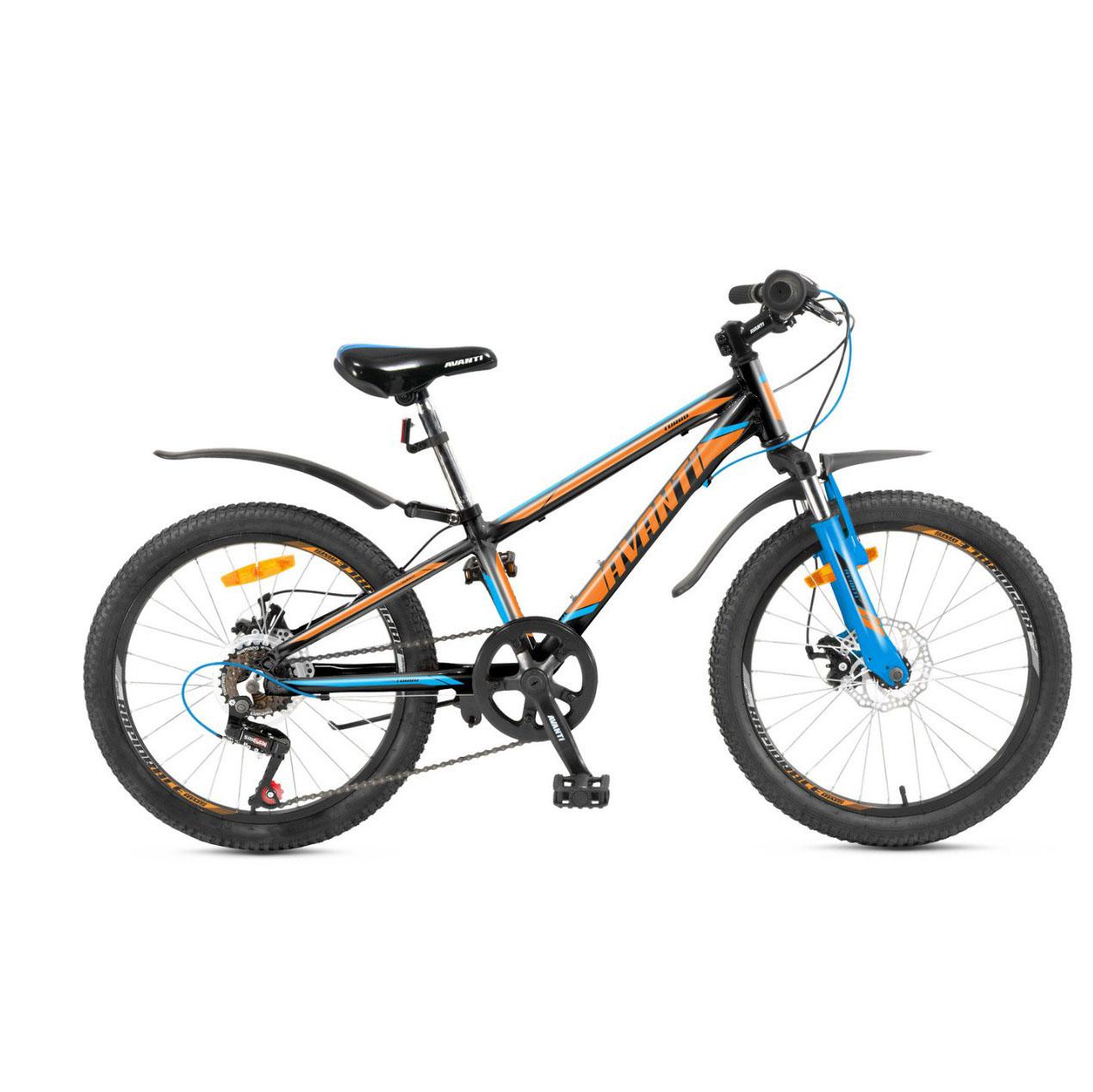 Фото Детский Велосипед 20 Avanti Turbo disk ALU черно-оранжевый