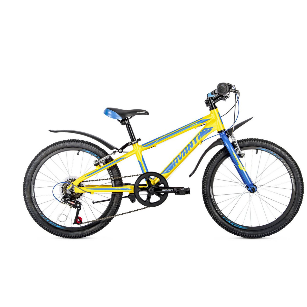 Фото Детский Велосипед 20 Avanti Turbo V-brake ALU желто-синий