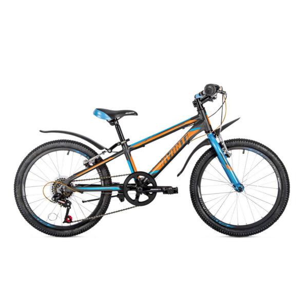 Фото Детский Велосипед 20 Avanti Turbo V-brake ALU черно-оранжевый