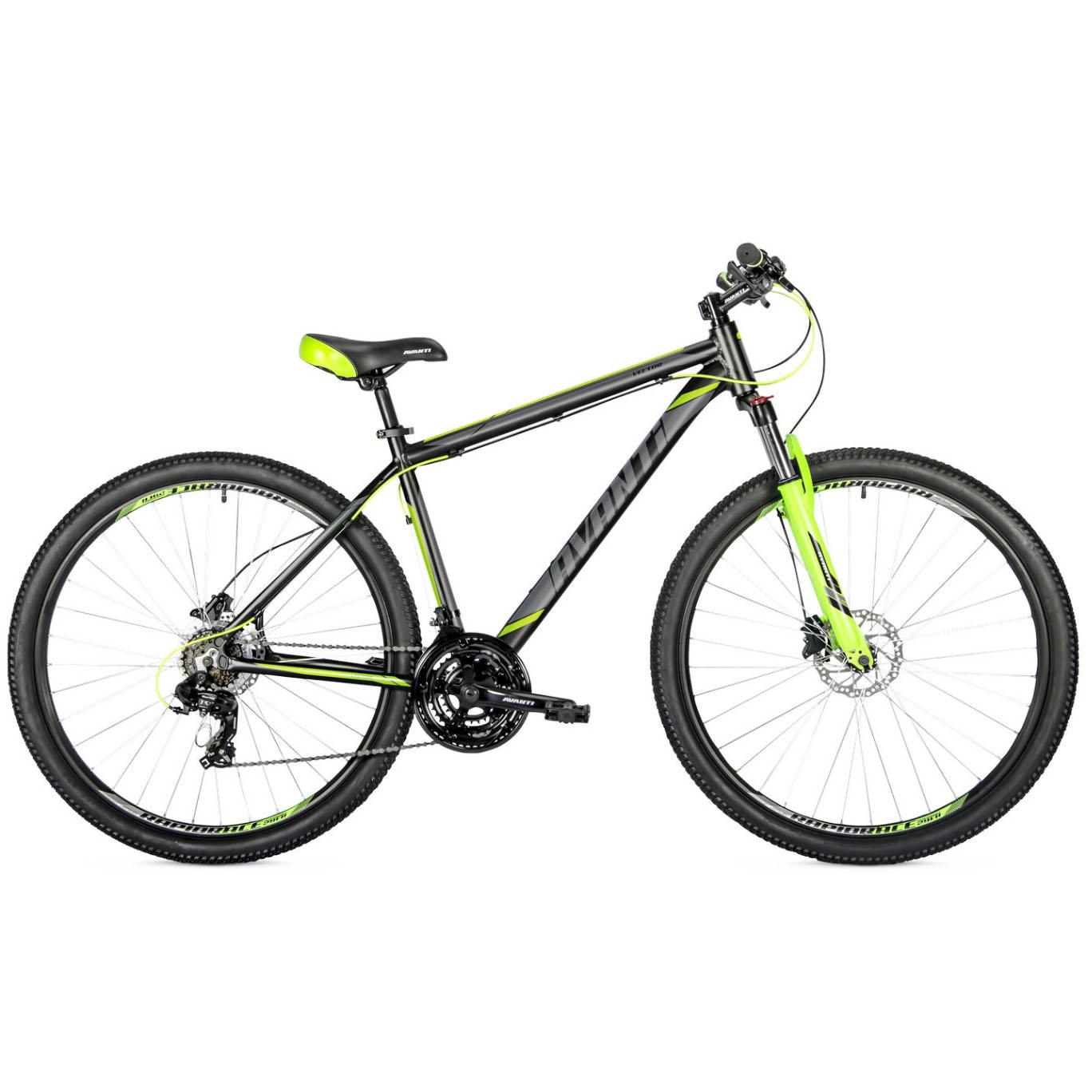 Фото Горный Велосипед   29 Avanti Vector disk 2018 вилка Lock Out черно-зеленый