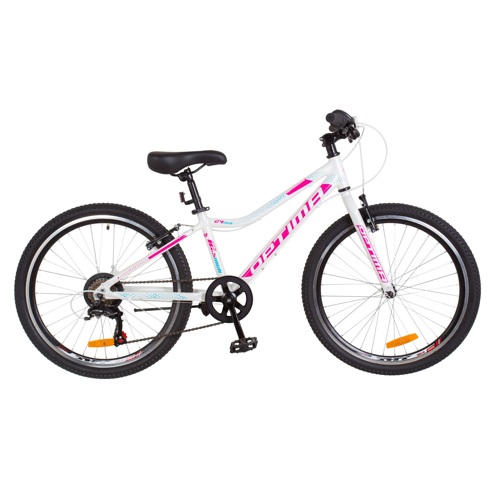 Фото Горный Велосипед 24 Optimabikes BLACKWOOD бело-розовый