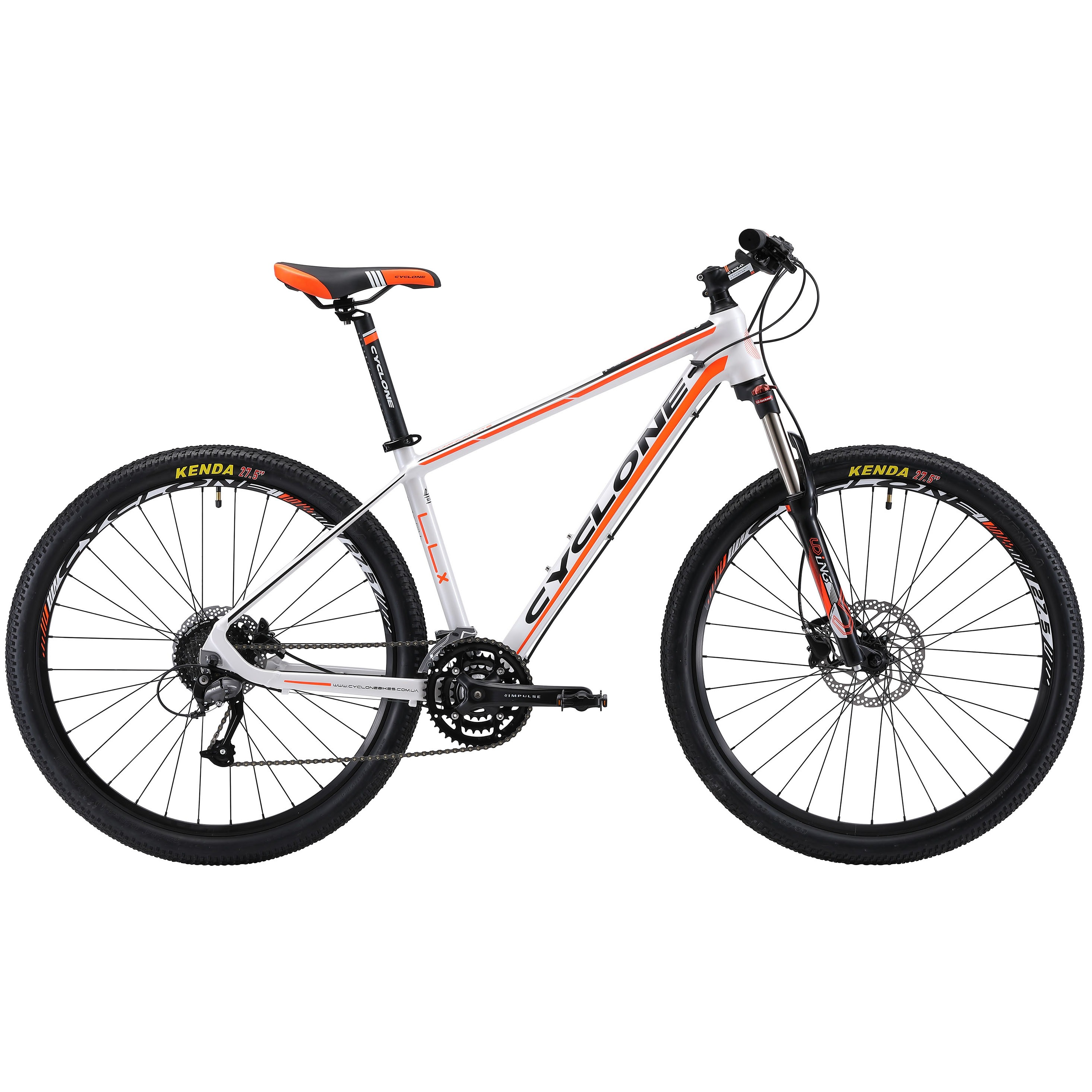 Фото Горный Велосипед Сyclone 27,5″ LLX-650b  15,5″ (бело-оранж-мат)