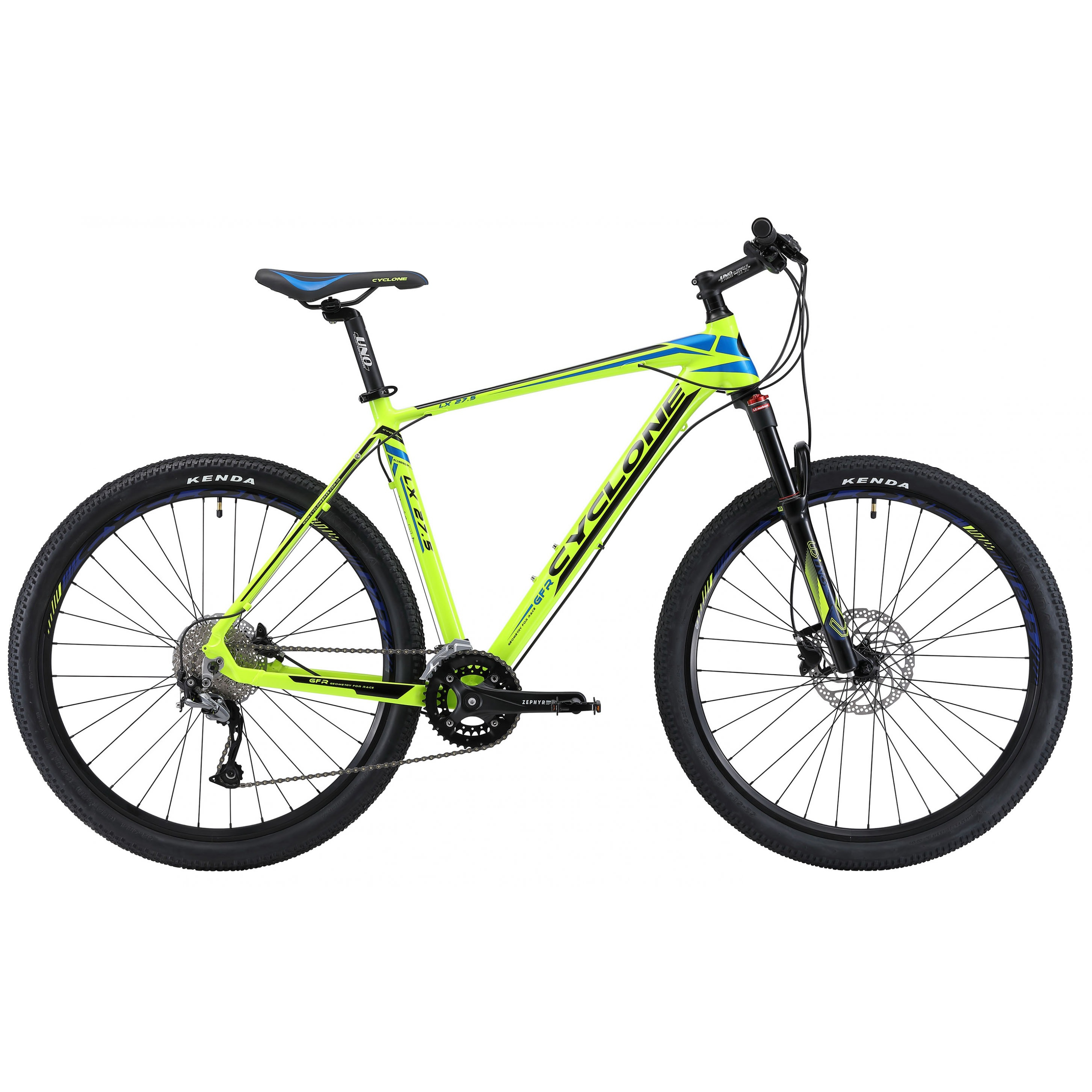Фото Горный Велосипед Сyclone 27,5″ LX-650b  17″ (зелен-син)