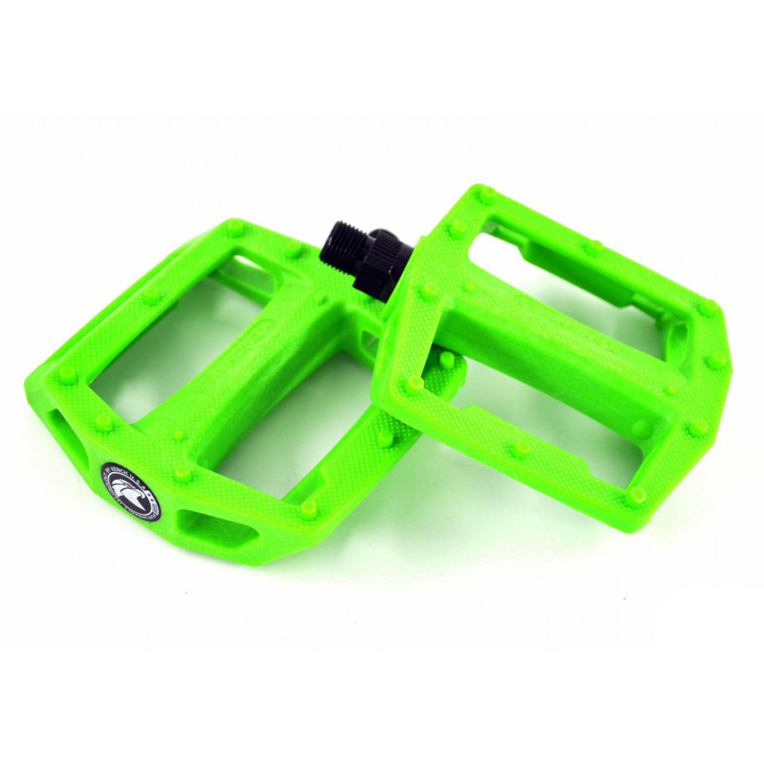 Фото Педаль нейлон-пластик с шипом зеленая