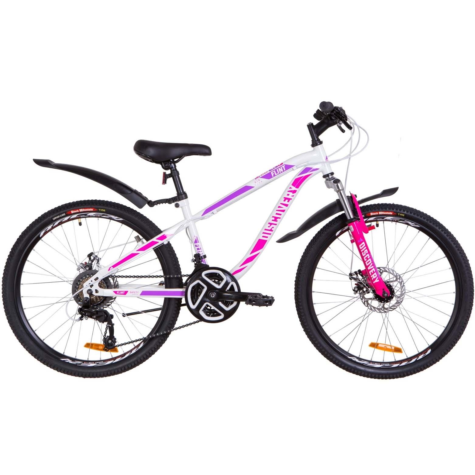Фото Подростковый Велосипед 24  Discovery FLINT DD бело-малиновый   2019