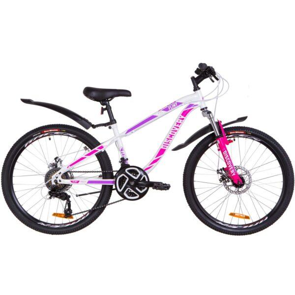 Фото Подростковый Велосипед 24  Discovery FLINT  бело-малиновый   2019