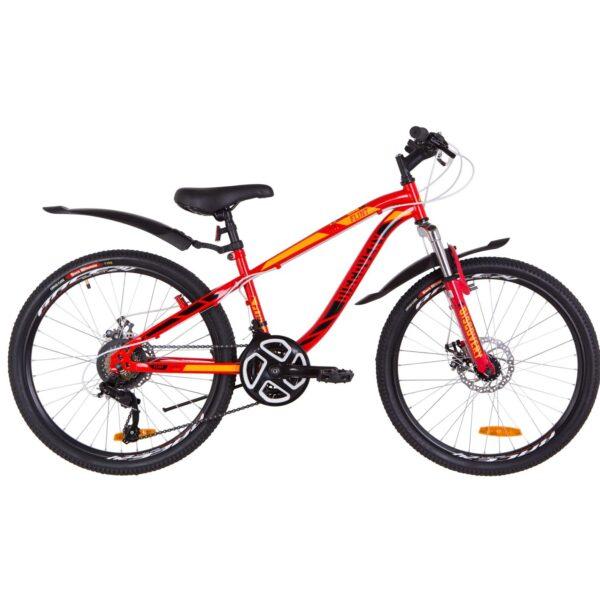 Фото Подростковый Велосипед 24  Discovery FLINT DD красно-оранжевый   2019