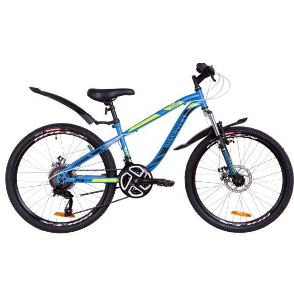 Фото Подростковый Велосипед 24  Discovery FLINT DD синий с зеленым (м)   2019