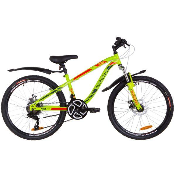 Фото Подростковый Велосипед 24  Discovery FLINT DD зелено-красный (м)   2019