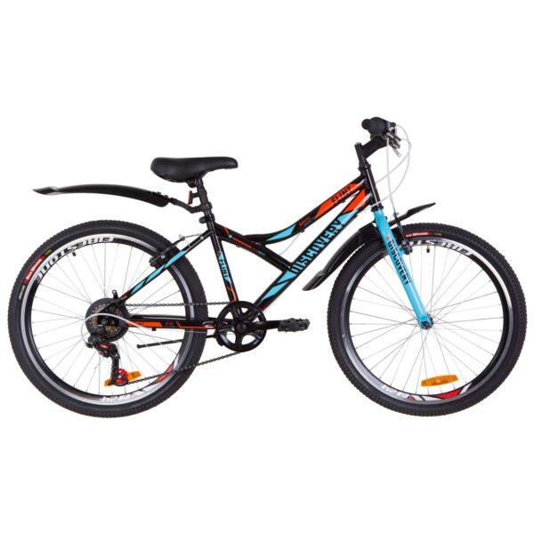 Фото Подростковый Велосипед 24   Discovery FLINT черно-синий с оранжевым 2019