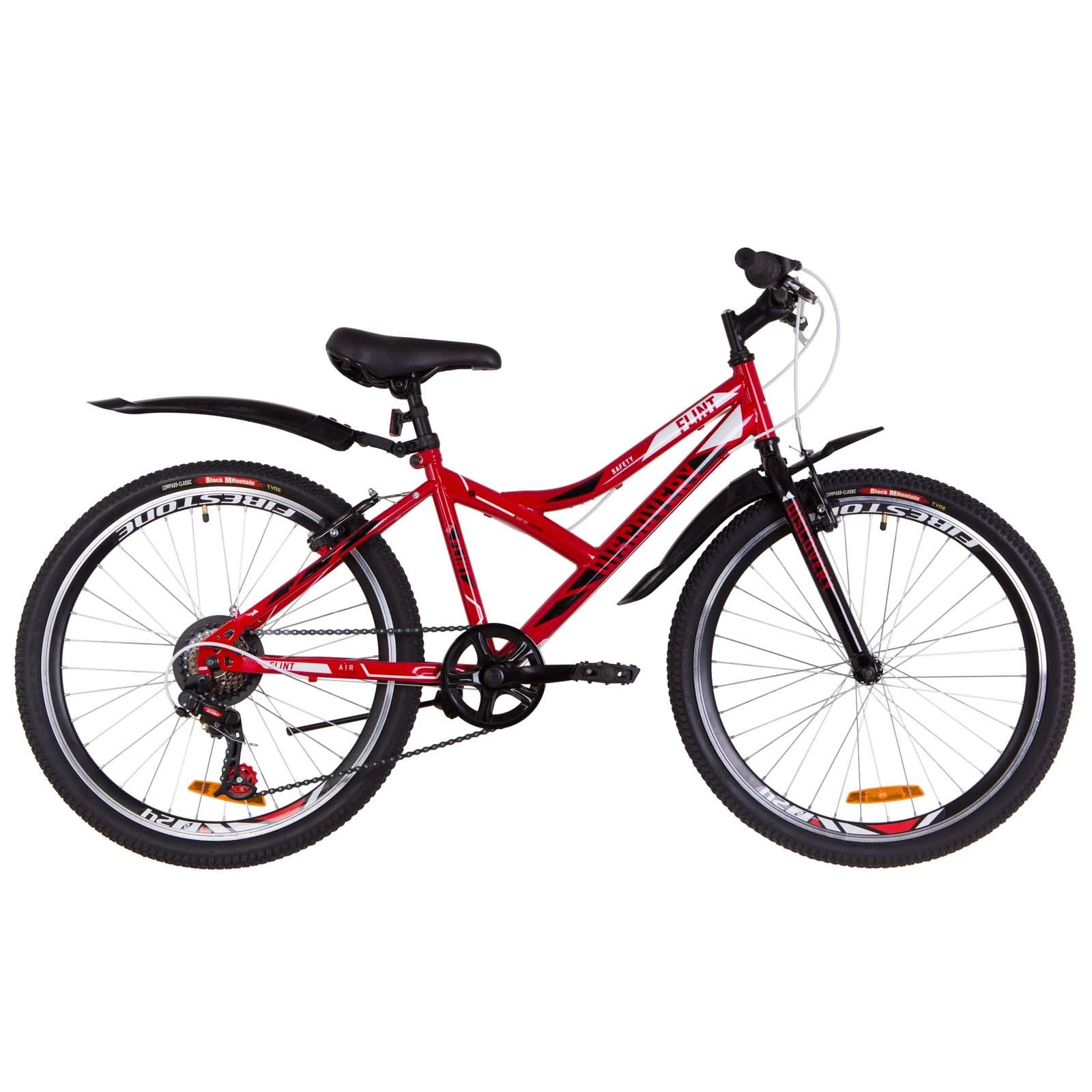 Фото Подростковый Велосипед 24   Discovery FLINT красно-белый с черным 2019