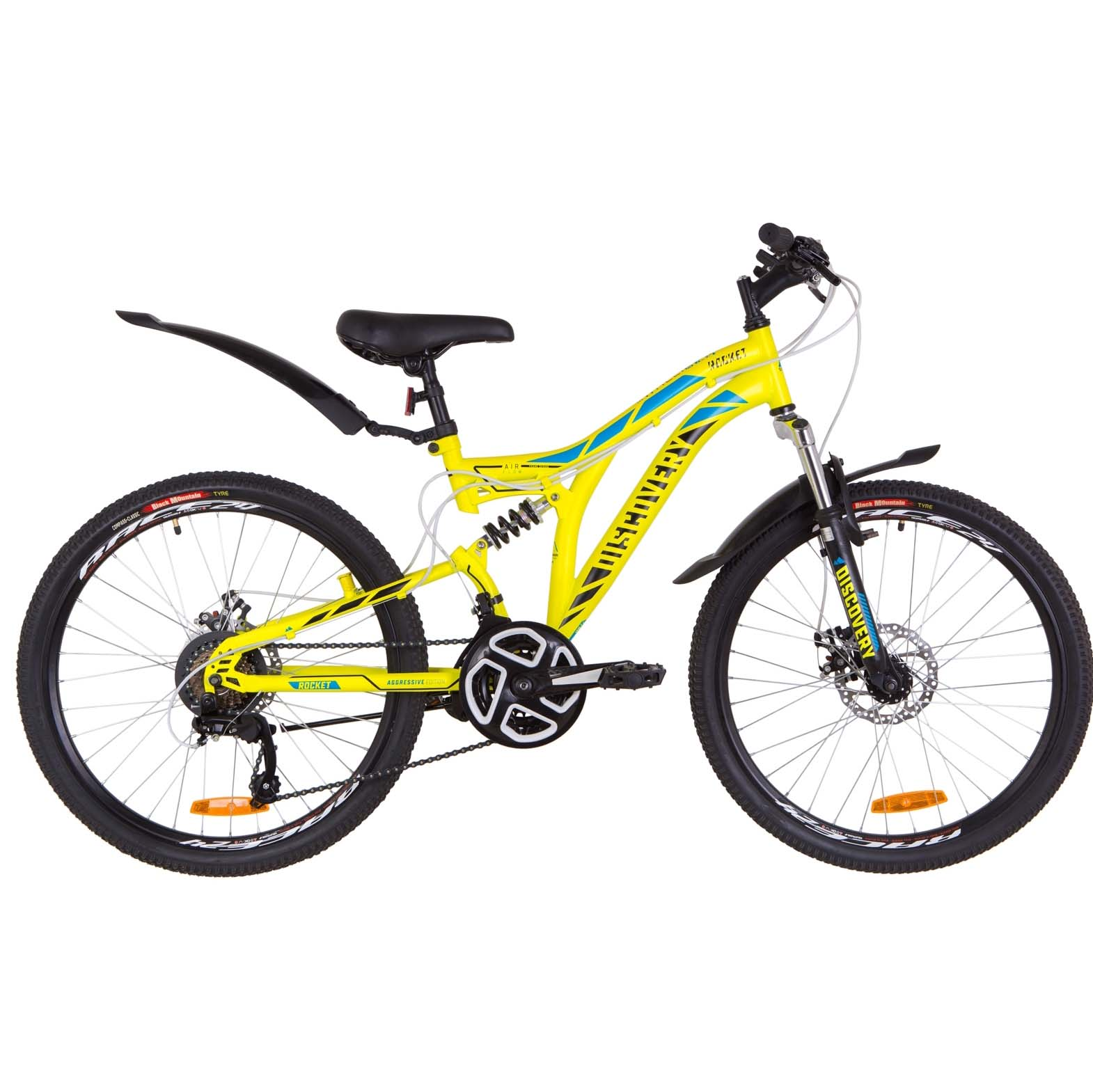 Фото Подростковый Велосипед 24  Discovery ROCKET DD желтый 2019