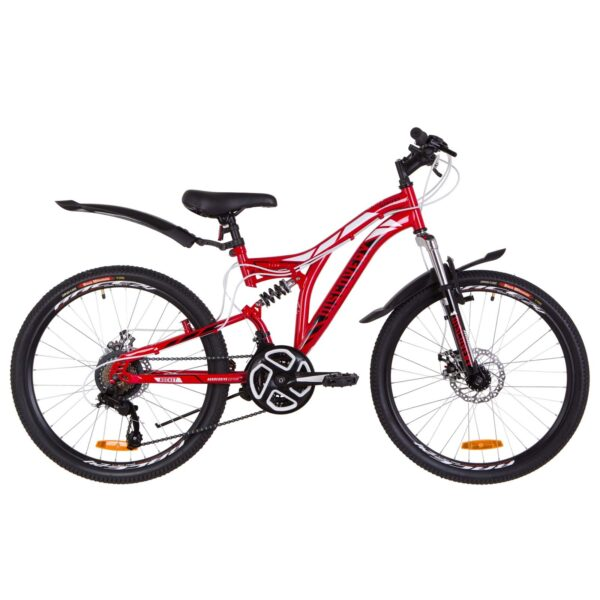 Фото Подростковый Велосипед 24  Discovery ROCKET DD красно-белый 2019