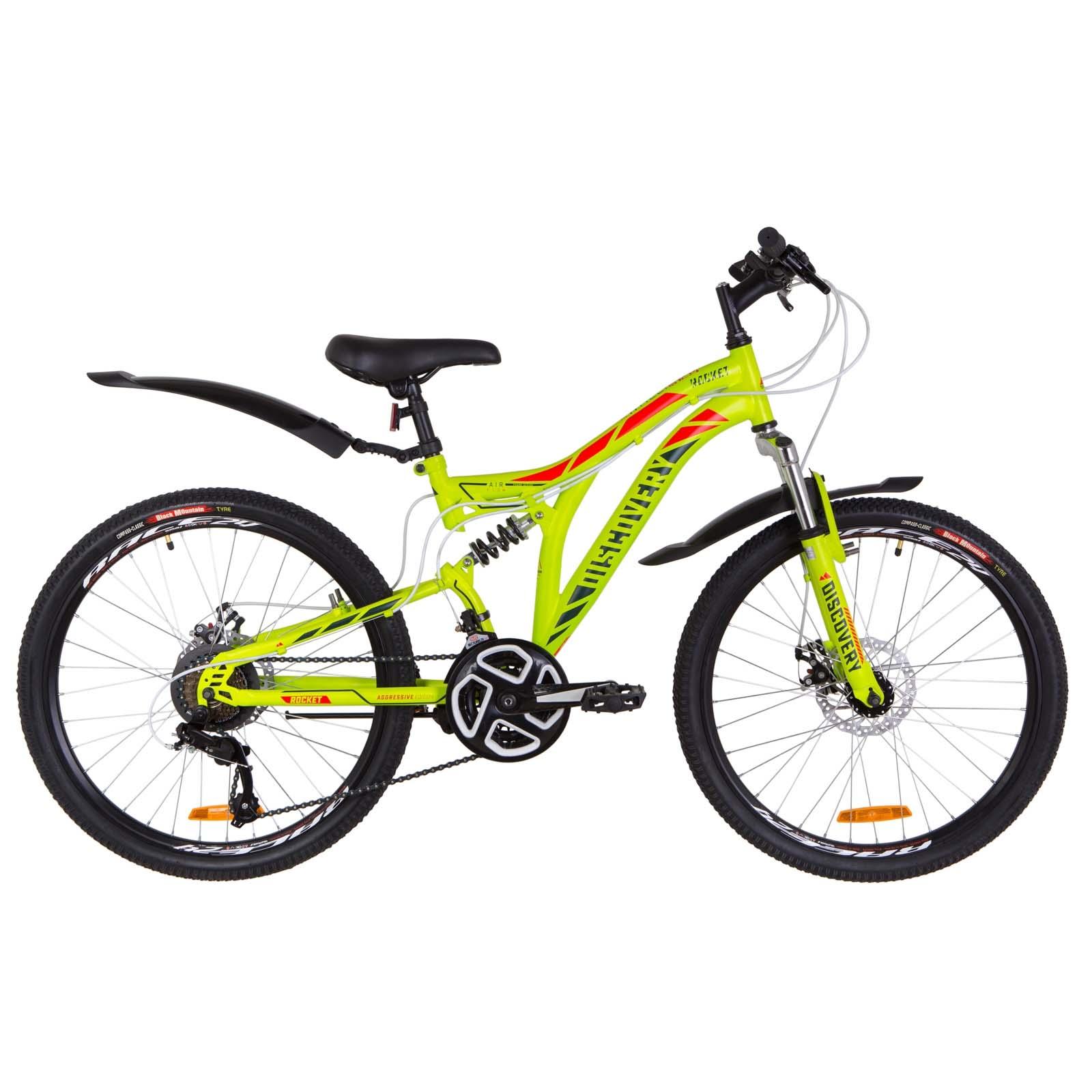 Фото Подростковый Велосипед 24  Discovery ROCKET DD зелено-красный  2019