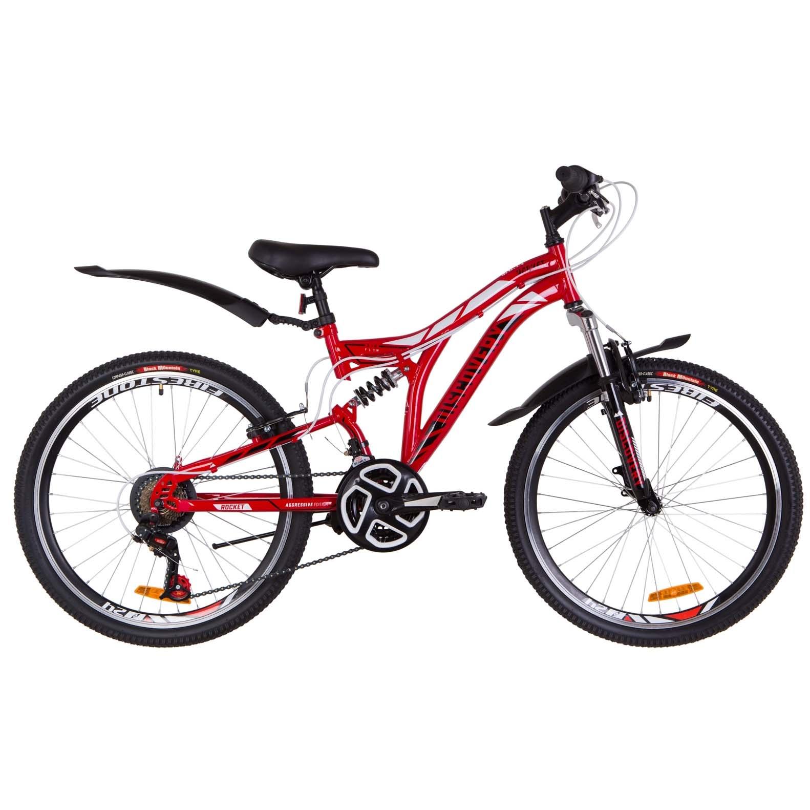 Фото Подростковый Велосипед 24  Discovery ROCKET красно-белый с черным 2019