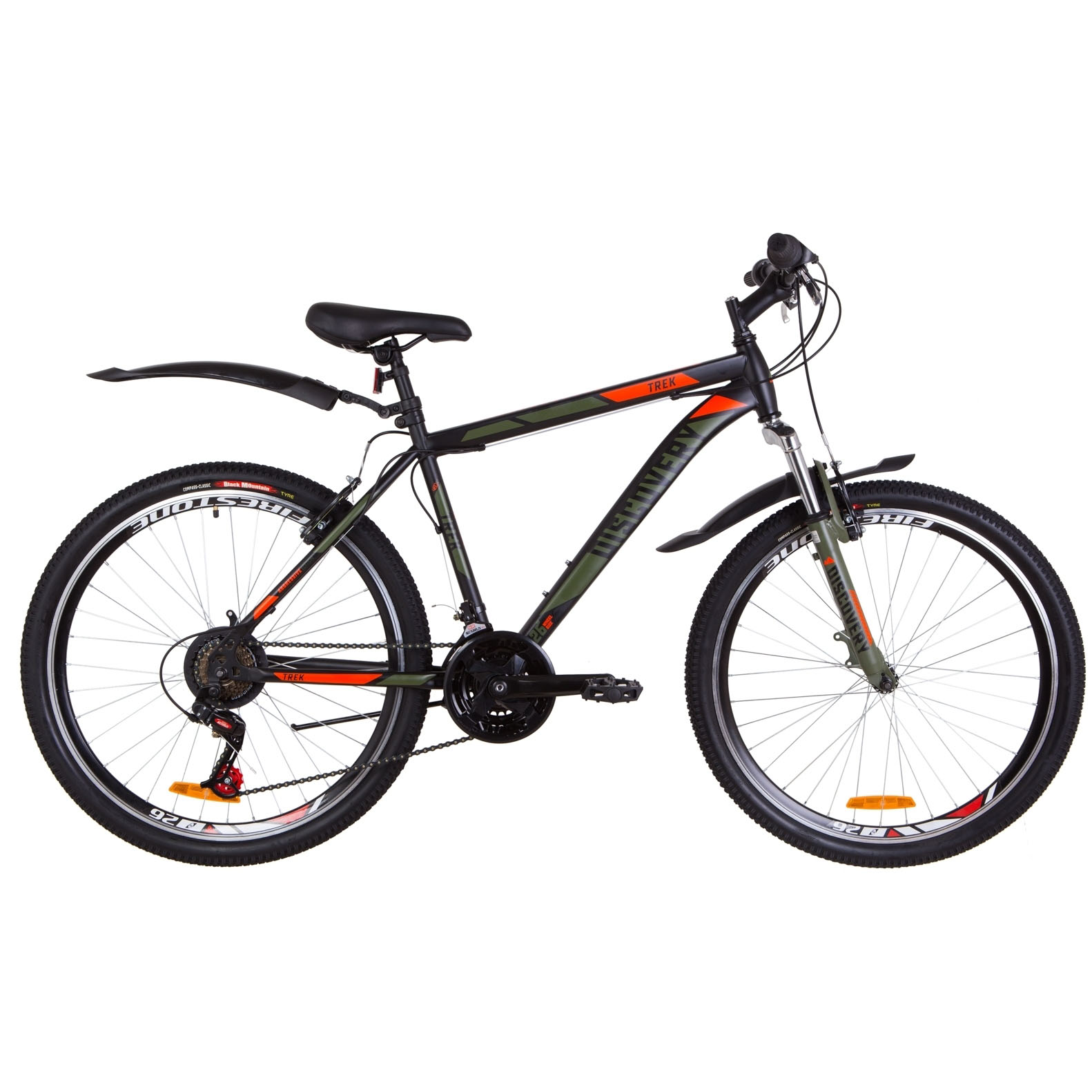 Фото Горный Велосипед 26  Discovery TREK черно-оранжевый хаки (м) 2019