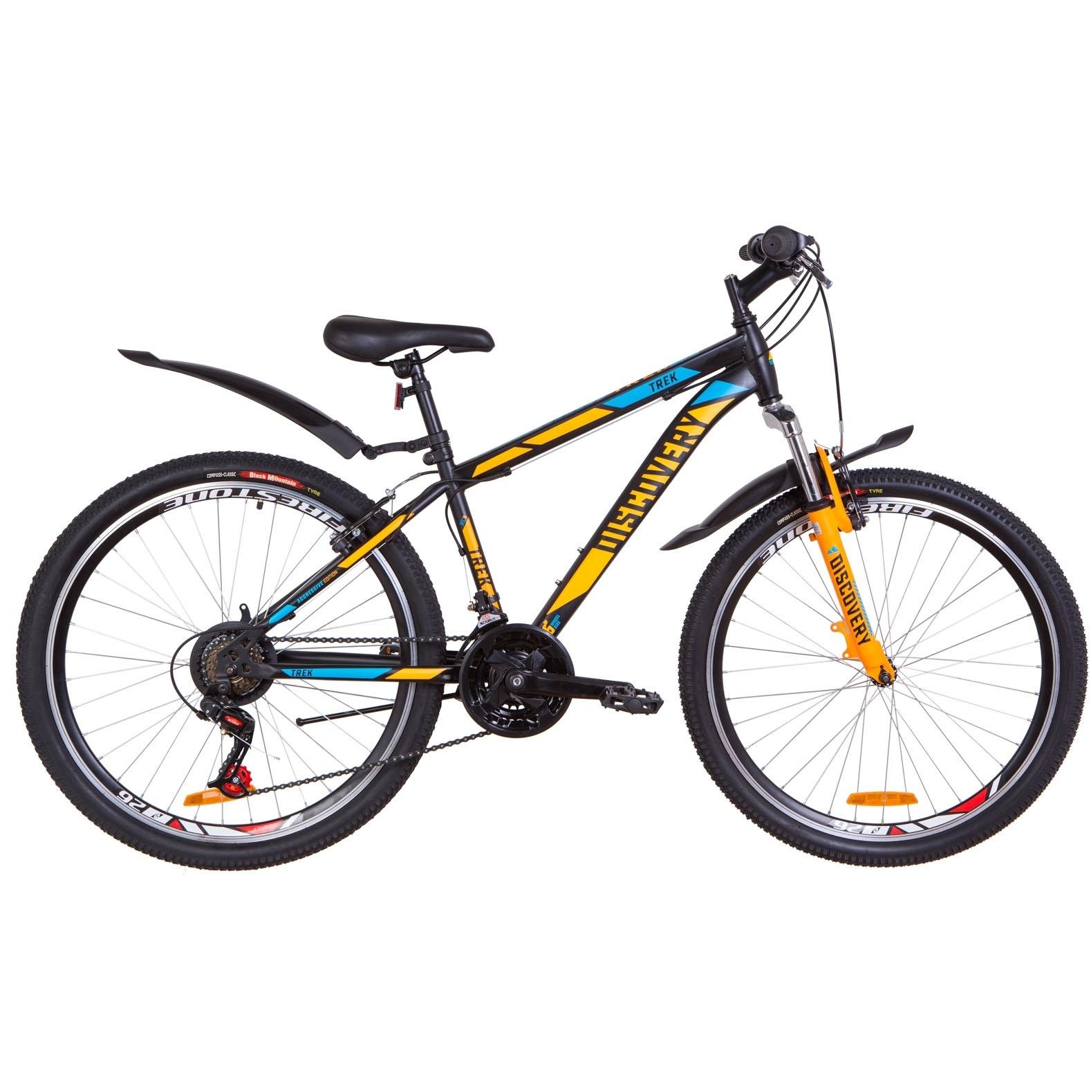 Фото Подростковый Велосипед 26  Discovery TREK черно-оранжевый с синим (м)  2019