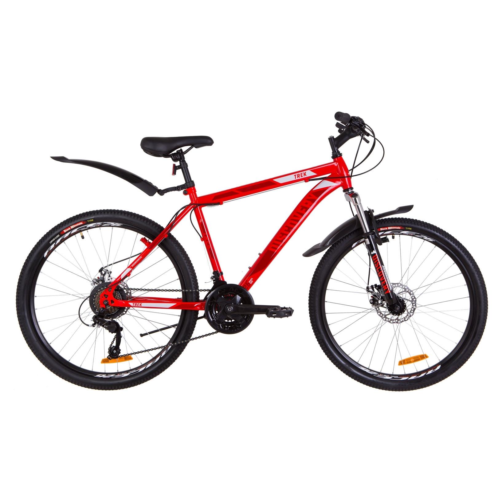 Фото Горный Велосипед 26  Discovery TREK DD рама 18″ красный 2019