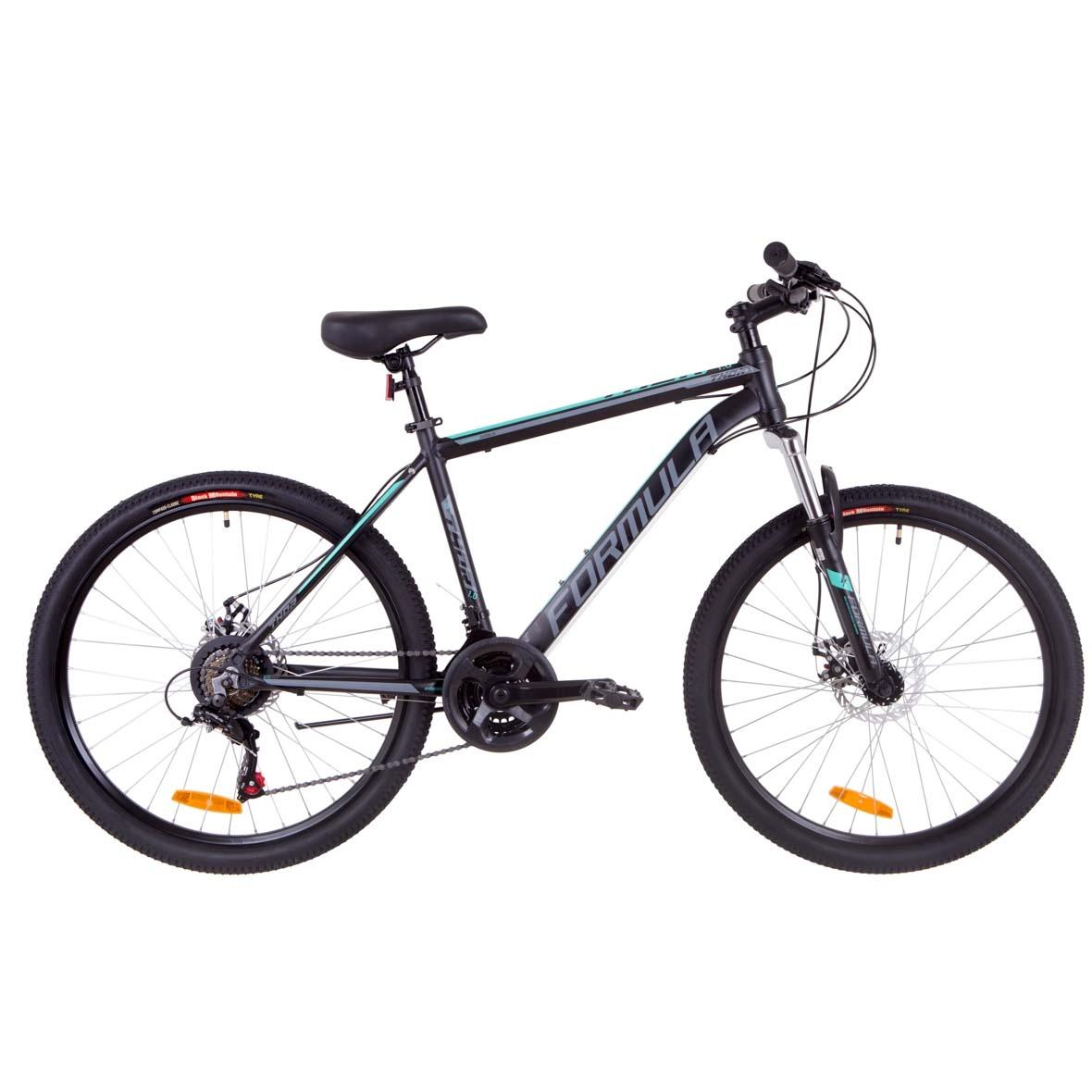 Фото Горный Велосипед 26  Formula THOR 1.0 DD рама 18″ черно-серый с бирюзовым 2019