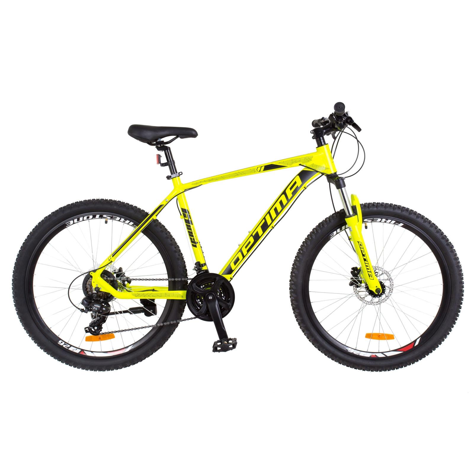 Фото Горный Велосипед 26  Optimabikes F-1 HDD желтый неон 2018