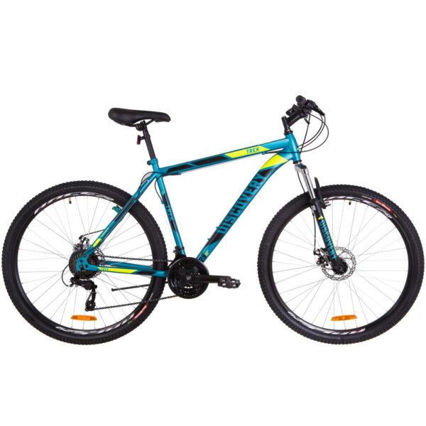 Фото Горный Велосипед 29  Discovery TREK DD малахитовый с желтым (м) 2019