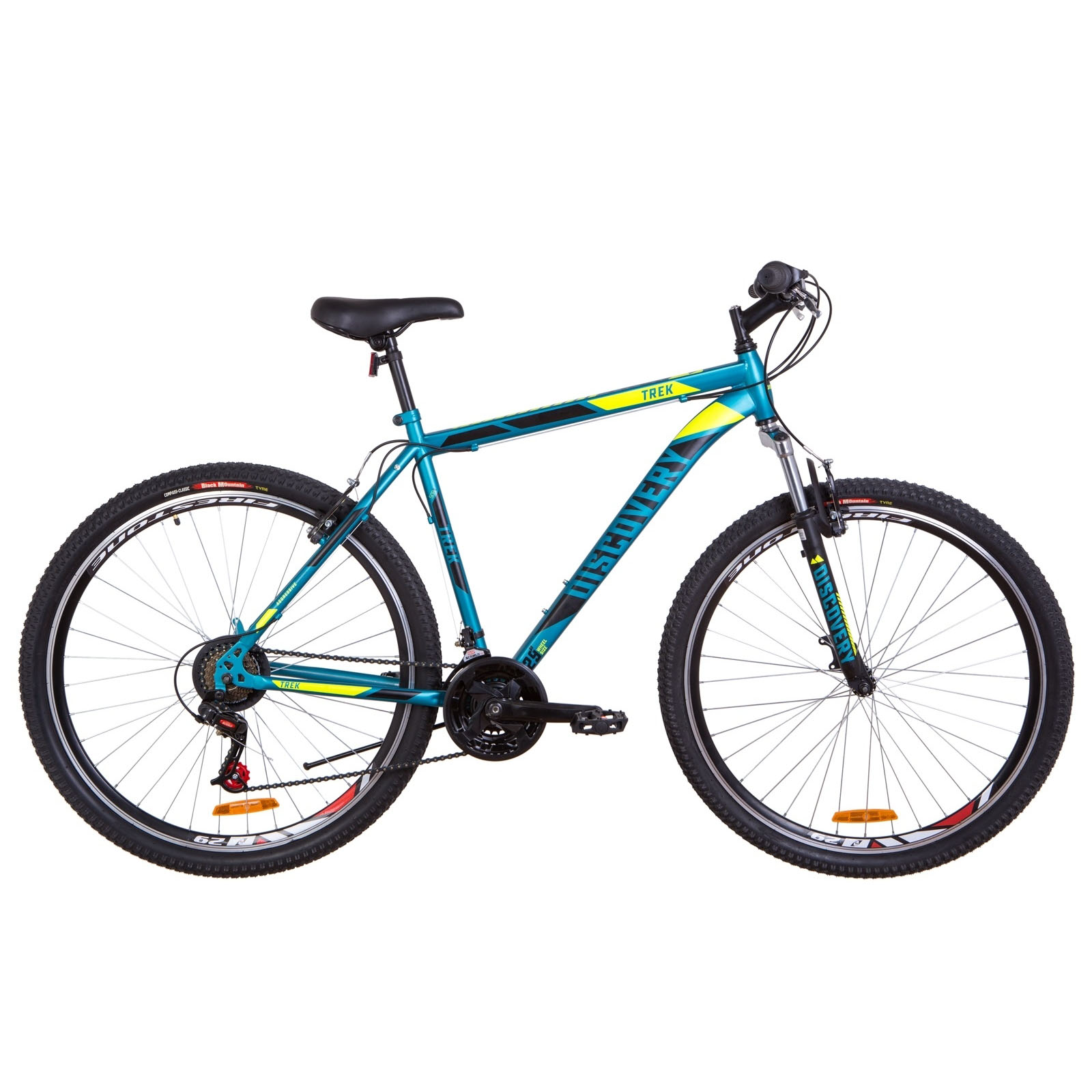 Фото Горный Велосипед 29  Discovery TREK малахитовый с желтым (м) 2019