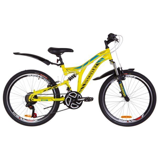Фото Подростковый Велосипед 24  Discovery ROCKET желтый 2019