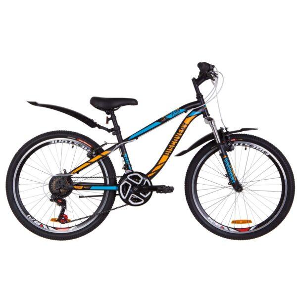Фото Подростковый Велосипед 24  Discovery FLINT  черно-синий с оранжевым (м)   2019