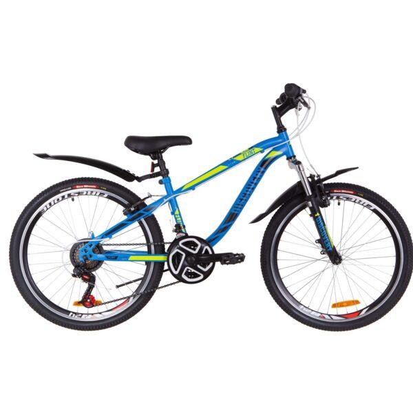 Фото Подростковый Велосипед 24  Discovery FLINT  синий с зеленым (м)   2019