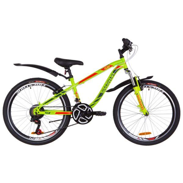 Фото Подростковый Велосипед 24  Discovery FLINT  зелено-красный (м)   2019