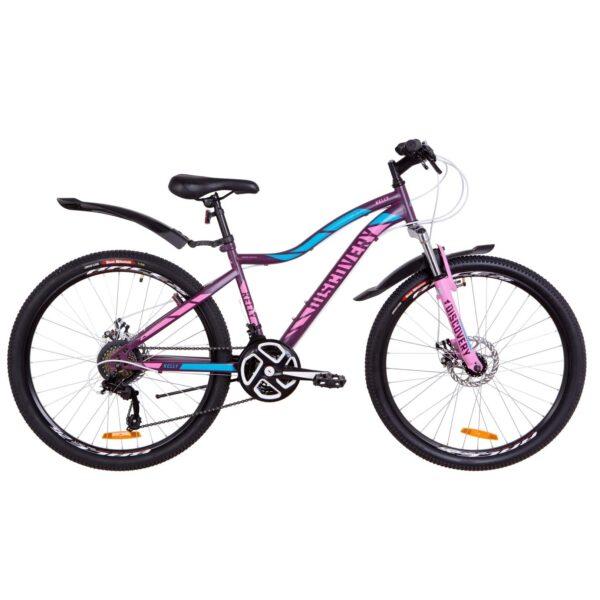 Фото Женский Велосипед 26  Discovery KELLY DD фиолетово-розовый с голубым 2019