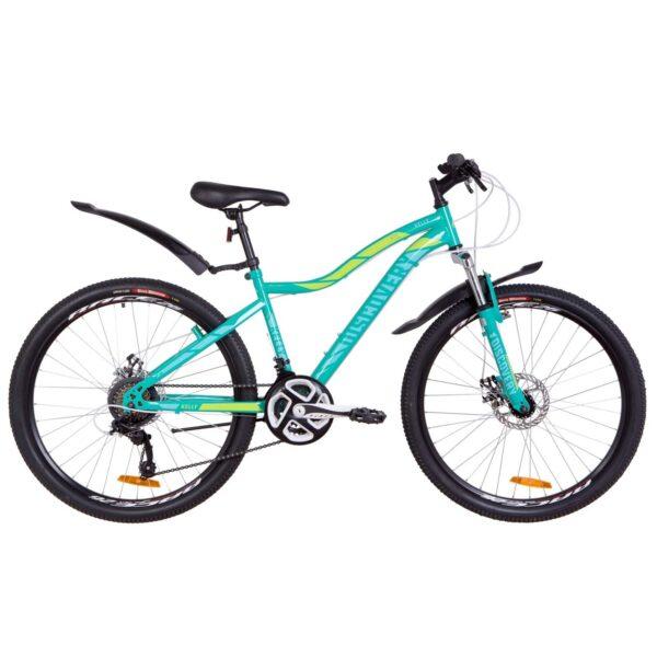 Фото Женский Велосипед 26  Discovery KELLY DD зеленый с крылом 2019