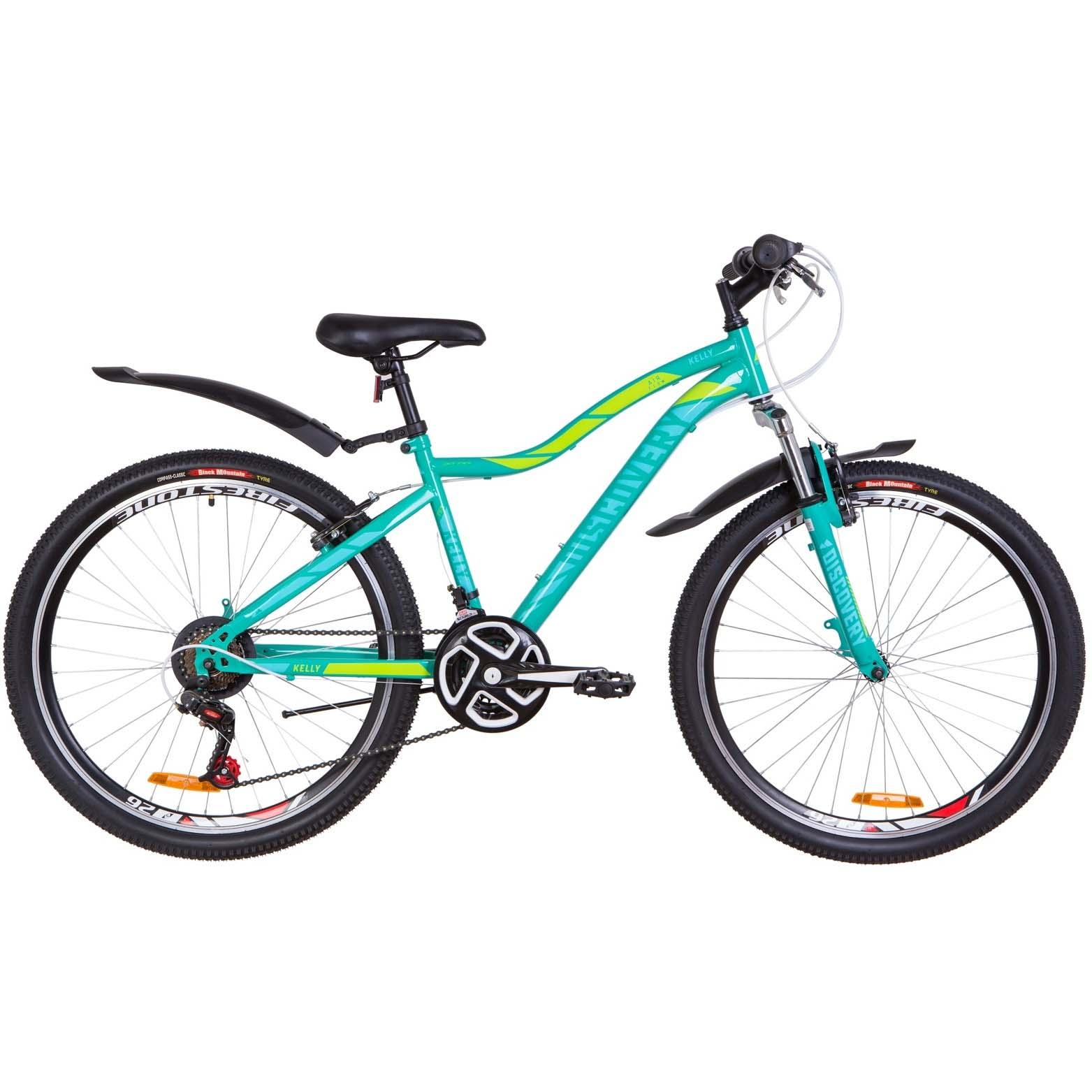 Фото Женский Велосипед 26  Discovery KELLY зеленый с крылом 2019