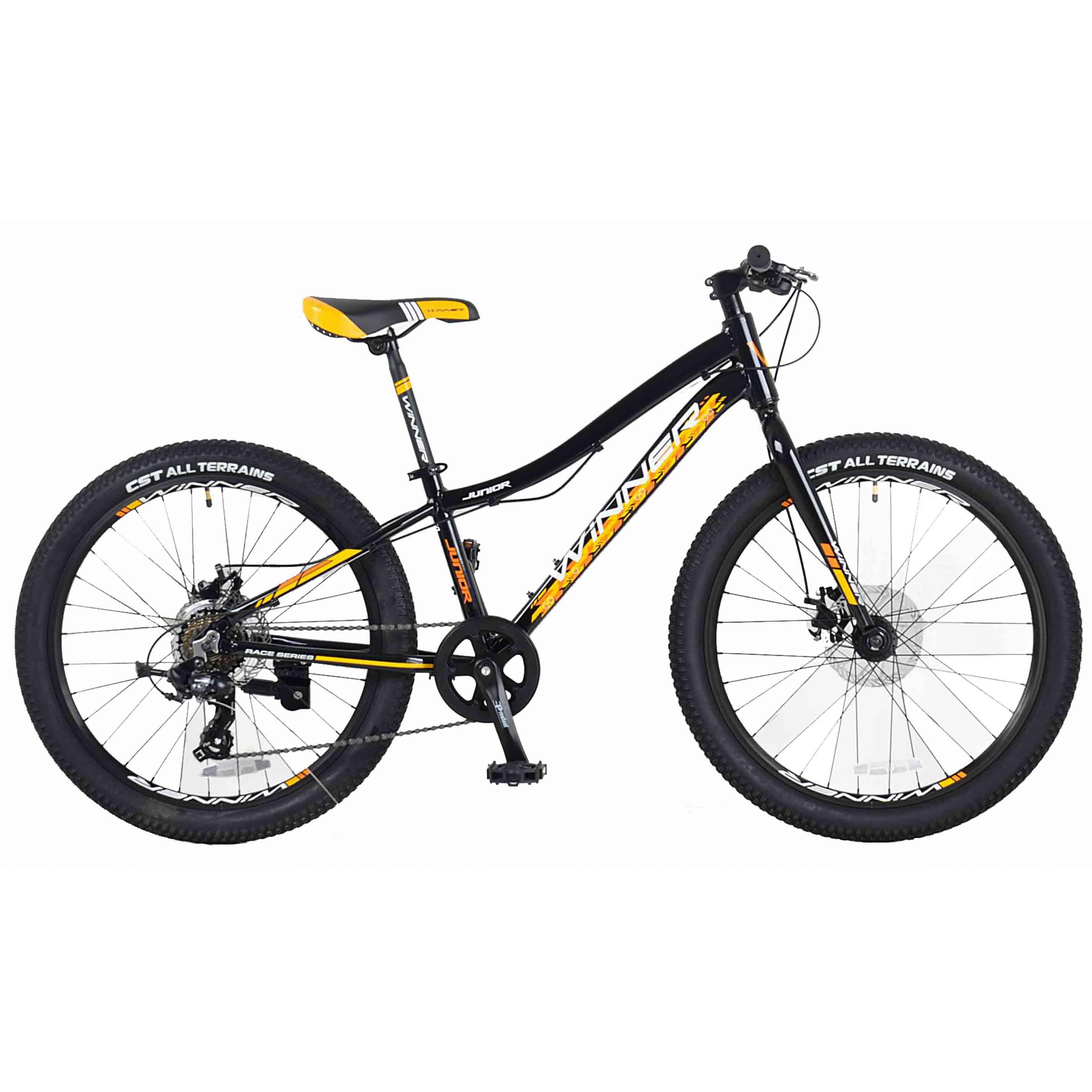Фото Детский Велосипед Winner 24″ JUNIOR+ 12,5″ (черн-желт)