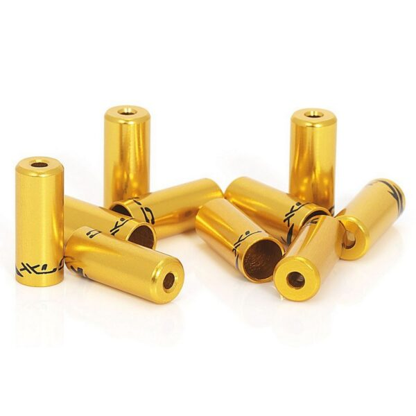 Фото Наконечники тормозные на рубашки XLC BR-X10, ø5,0мм 50шт, золотой