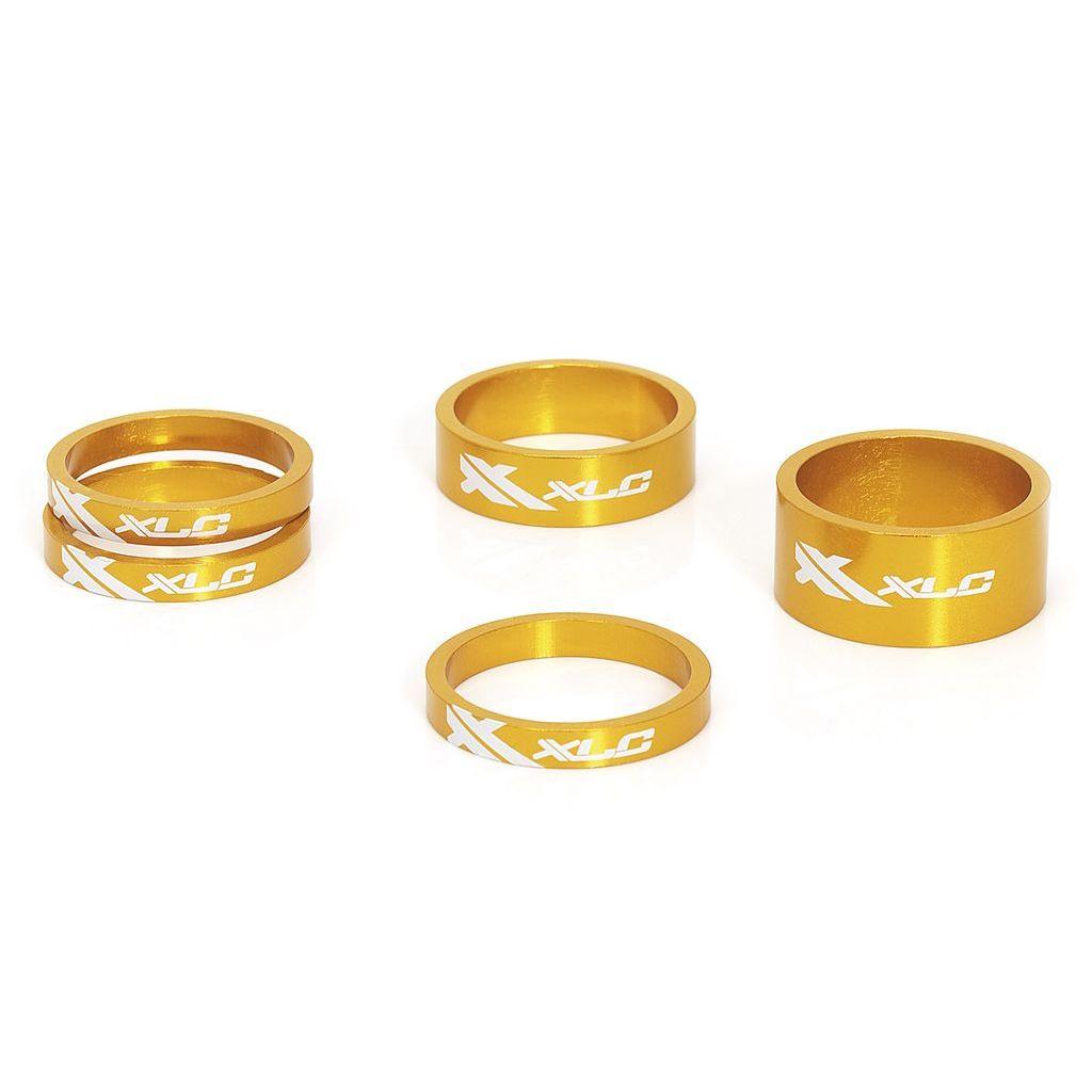 Фото Проставочные кольца, XLC AS-A02,  1 1/8″, золотые
