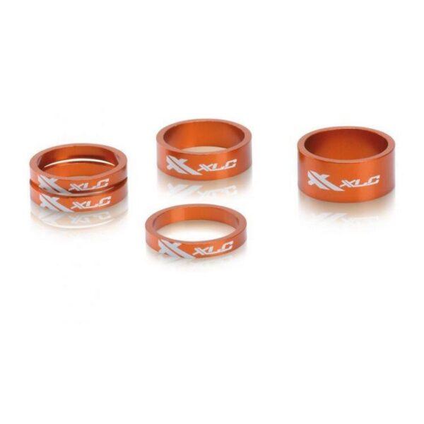 """Фото Проставочные кольца, XLC AS-A02, 1 1/8"""", оранжевые"""