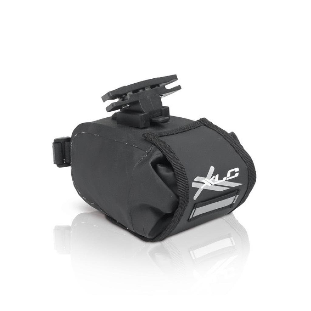 Фото Сумка подседельная XLC BA-W22, черно-серая, 17x10x11 см