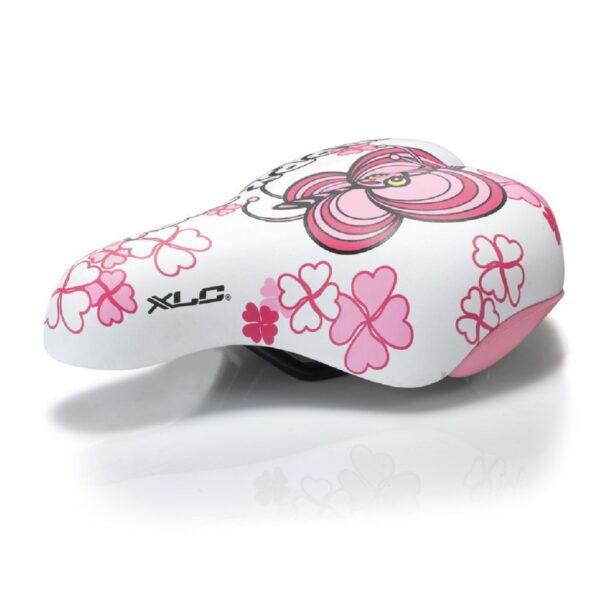 Фото Седло XLC SA-C02 детское, 180x145мм, бело-розовое, 303г