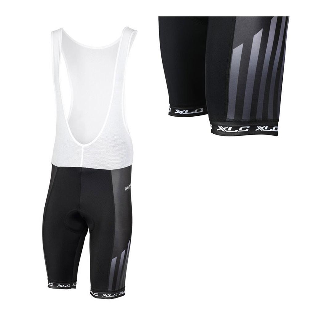 Фото Велошорты с лямками XLC TR-S12, L, черно-белые