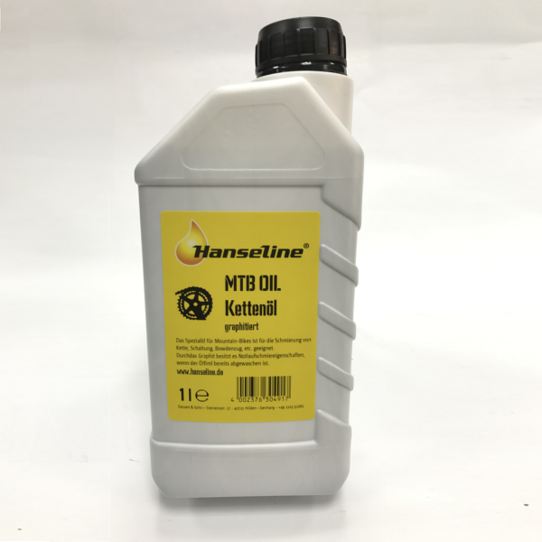 Фото Смазка для цепи Hanseline MTB-Oil, 1л (графитная)
