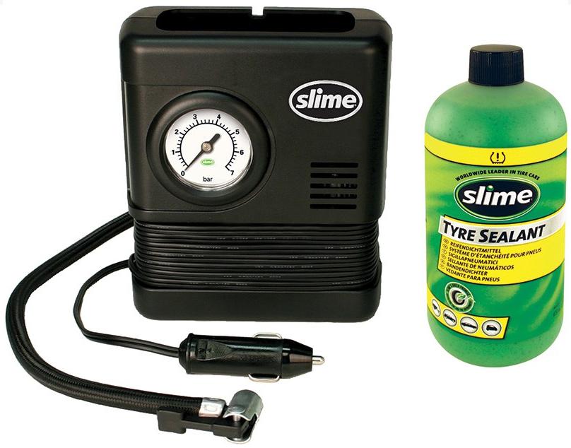 Фото Ремкомплект для автопокрышек Smart Spair (герметик + воздушный компрессор), Slime