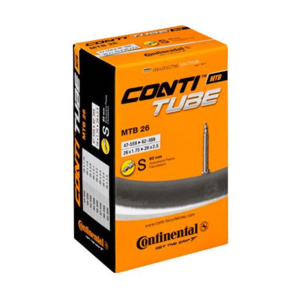 "Фото Камера Continental MTB 26""x1.75-2.5, 47-559 -> 62-559, PR60mm"